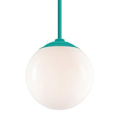 Harman 1-Light Stem Globe Pendant Finish: Tahitian Teal Stem, Size: 40 H x 16 W x 16 D