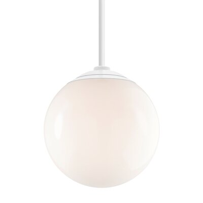 Harman 1-Light Stem Globe Pendant Finish: Gloss White Stem, Size: 40 H x 16 W x 16 D