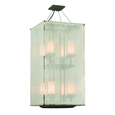 Raffia 8-Light Medium Entry Drum Foyer Pendant