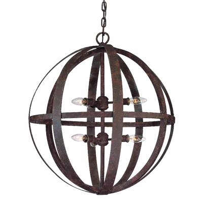 Petrina 6-Light Large Foyer Pendant