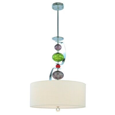 Fizz 3 Light Drum Foyer Pendant