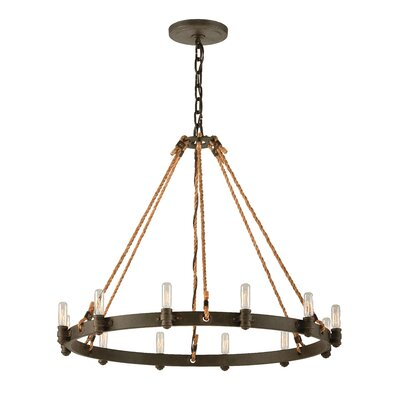 Holly 12-Light Candle-Style Chandelier