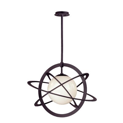 Cosmos 1-Light Globe Pendant Size: 21.25 H x 26 W, Bulb Type: 100W Medium Base Incandescent Bulb