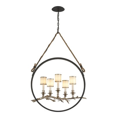 Oxford 5-Light Pendant Size: 40 H x 26 W x 12 D