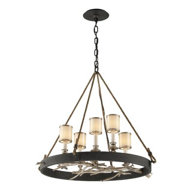 Oxford 5-Light Pendant Size: 26 H x 30 W x 28.5 D