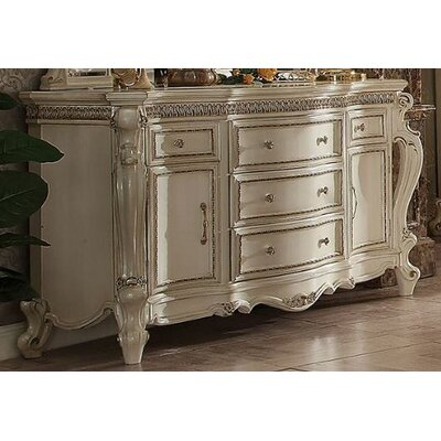 Traditional Drawer Dresser Antique Pearl Dressers Image