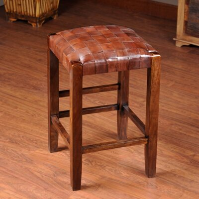 Studio 24 Bar Stool Upholstery: Medium Brown