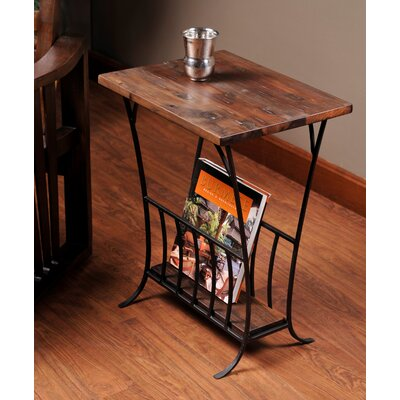 Depot Magazine End Table