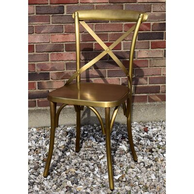 Wilna Side Chair Finish: Brass