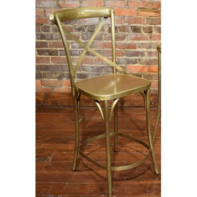 Wilna Counter Bar Stool Finish: Brass