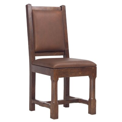 Gerberoy Side Chair Upholstery: Rustic Brown