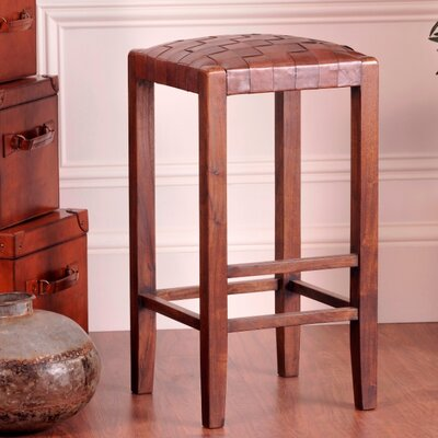 Studio 30 Bar Stool Upholstery: Medium Brown
