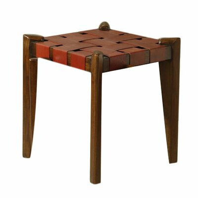 18 inch Bar Stool Upholstery: Red Leather