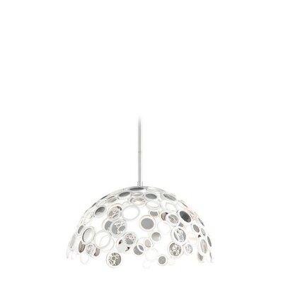 Fathom 1-Light LED Inverted Pendant Finish: White with Polished Stainless Accents