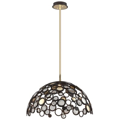 Fathom 1-Light LED Inverted Pendant Finish: Bronze with Polished Brass