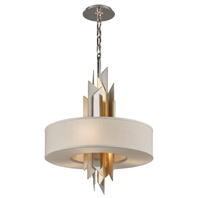 Modernist 4-Light Fluorescent Pendant