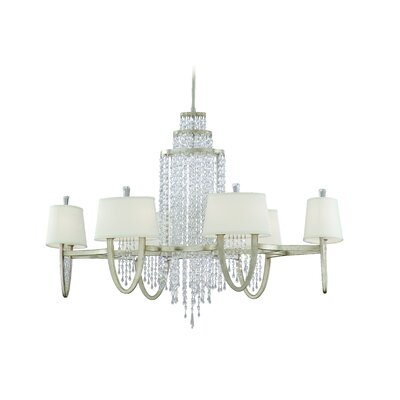 Viceroy Silver Leaf 12-Light Crystal Chandelier