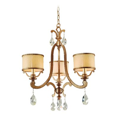 Cyra 3-Light Drum Chandelier Finish: Antique Roman Silver