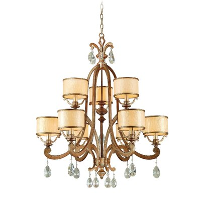 Cyra 9-Light Drum Chandelier Finish: Antique Roman Silver