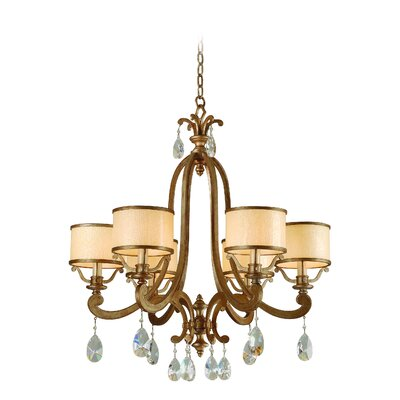 Cyra 6-Light Drum Chandelier Finish: Antique Roman Silver