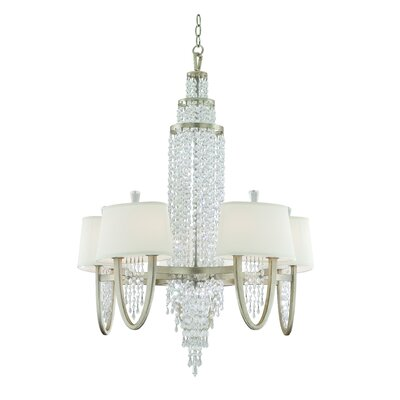 Viceroy Silver Leaf 10-Light Crystal Chandelier