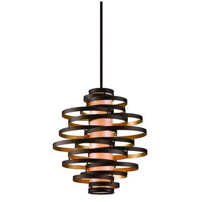 Vertigo 2-Light Pendant Finish: Bronze/Gold Leaf