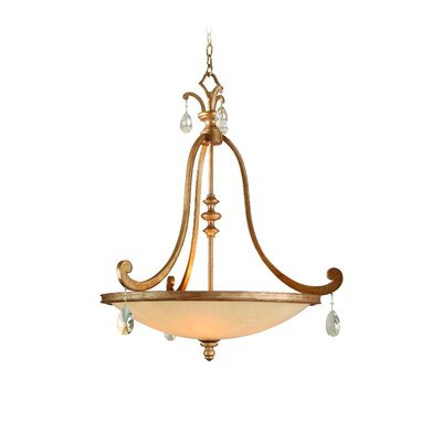 Roma 4-Light Inverted Pendant Finish: Antique Roman Silver