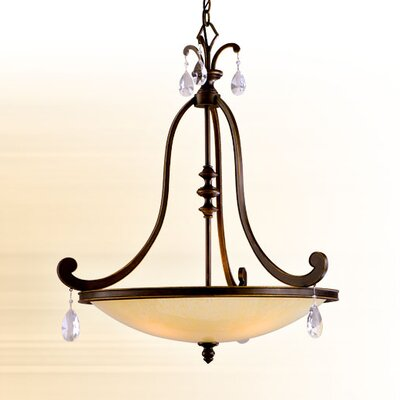 Cyra 4-Light Inverted Pendant Finish: Classic Bronze