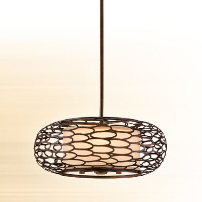 Cesto 3-Light Drum Pendant