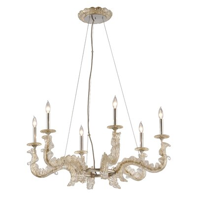 Cielo 6-Light Candle-Style Chandelier