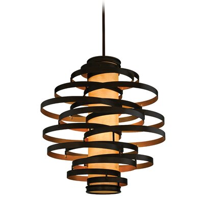 Vertigo 4-Light Foyer Pendant Finish: Bronze/Gold Leaf