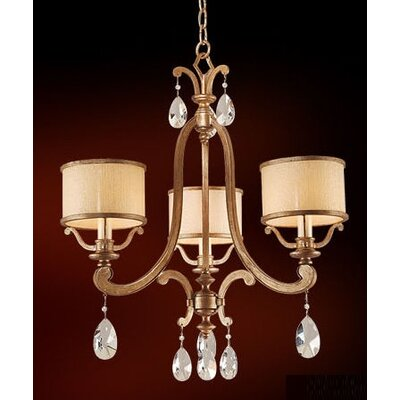 Roma 3-Light Drum Chandelier Finish: Classic Bronze