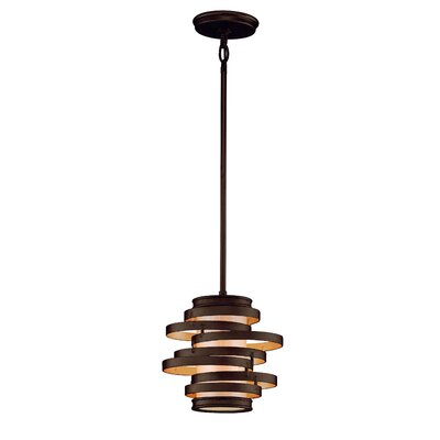 Vertigo 1-Light Mini Pendant Finish: Bronze with Gold Leaf