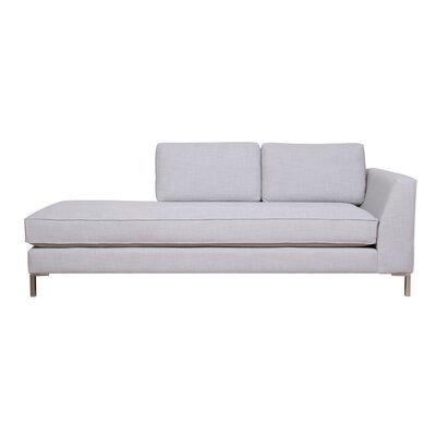 Belgium Chaise Lounge Upholstery: Campbell Stone, Orientation: Left-Hand Facing
