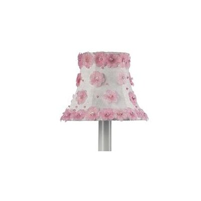 5 Bell Candelabra Shade (Set of 2) Color: White and Pink