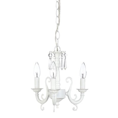 3-Light Scroll Candle-Style Chandelier
