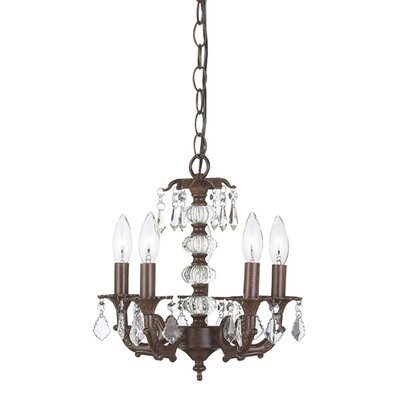 Stacked Ball 5-Light Crystal Chandelier Finish: Mocha
