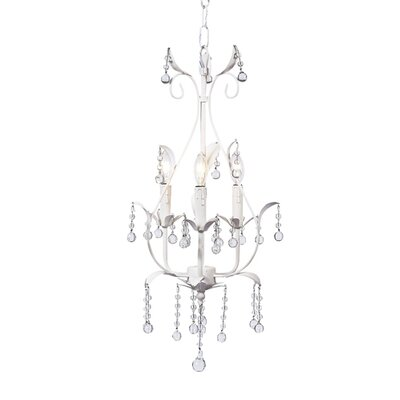 Pear 3-Light Candle-Style Chandelier Finish: White
