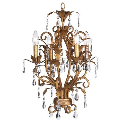 Mackenzie 4 Light Crystal Chandelier Finish: Gold