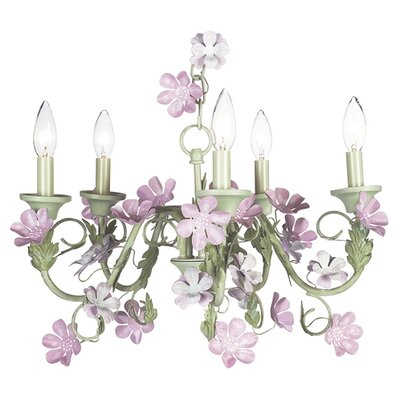 Leaf and Flower 5-Light Candle-Style Chandelier