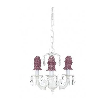 Stacked 3-Light Candle-Style Chandelier