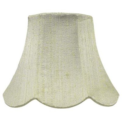 7 Silk Bell Lamp Shade Color: Green