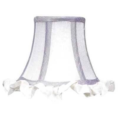 5 Silk Bell Candelabra Shade (Set of 2) Color: White with Lavender Trim
