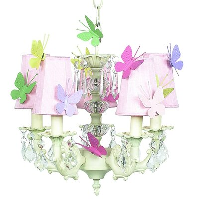 Stacked Ball 3-Light Shaded Chandelier Shade Color: Pink