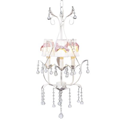Pear 3-Light Shaded Chandelier Finish: White, Shade: White