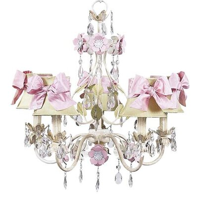 Flower Garden Chandelier with Optional Shade and Sash