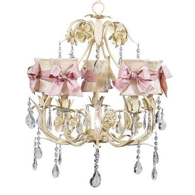Ballroom 5-Light Shaded Chandelier Shade: Ivory Hourglass