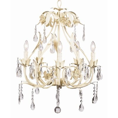 Ballroom 5-Light Crystal Chandelier Finish: Ivory