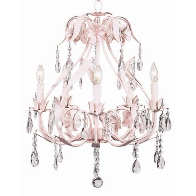 Ballroom 5-Light Crystal Chandelier Finish: Pink