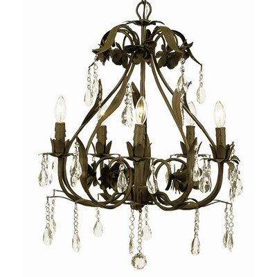 Ballroom 5-Light Crystal Chandelier Finish: Mocha